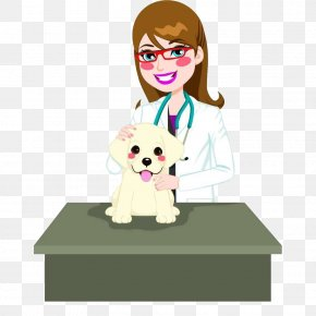 Cartoon Pet Doctor And Dog - Dog Cat Veterinarian Photography Illustration PNG
