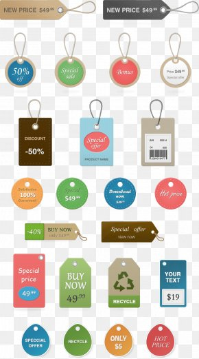 Colorful Labels - Price Tag PNG