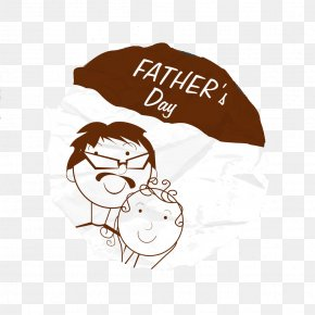 Father's Day - Fathers Day Paper Painting Illustration PNG