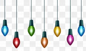 Christmas Colorful Bulbs Clip Art Image - Christmas Lights Lighting Christmas Decoration Clip Art PNG