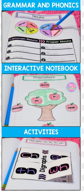 Notebook - Reading Notebook Writing First Grade Grammar PNG