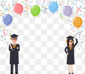 Cheer Graduation Season - Student Graduation Ceremony Diploma Clip Art PNG