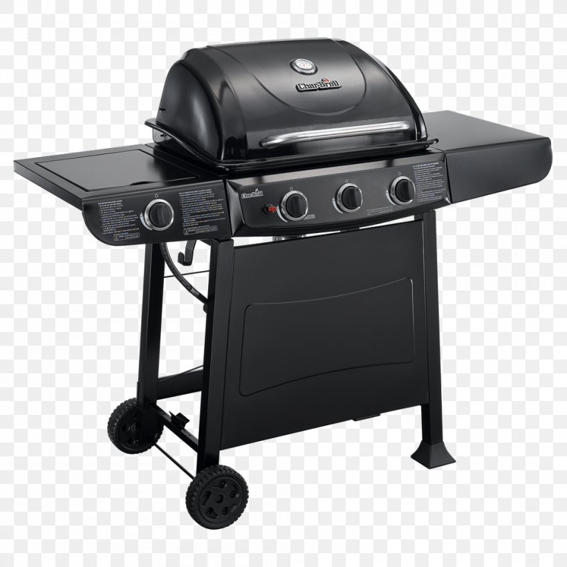 Barbecue Grilling Char-Broil 3 Burner Gas Grill Char-Broil Classic 463874717, PNG, 1000x1000px, Barbecue, Bbq Smoker, Brenner, Charbroil, Charbroil 3 Burner Gas Grill Download Free