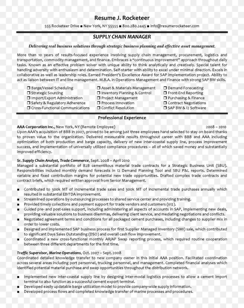 Résumé Purchasing Manager Curriculum Vitae Cover Letter ...