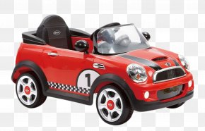 Children's Toy Red Convertible Car - MINI Cooper Car Electric Vehicle BMW PNG