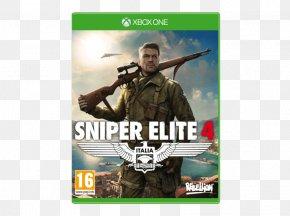 Sniper Elite - Sniper Elite 4 Xbox 360 Xbox One Video Game PNG