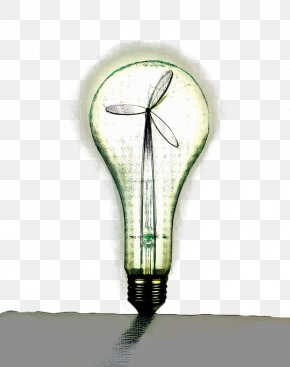 Hand Painted Green Wind Energy Bulb - Greens Mill, Sneinton Wind Power Windmill PNG