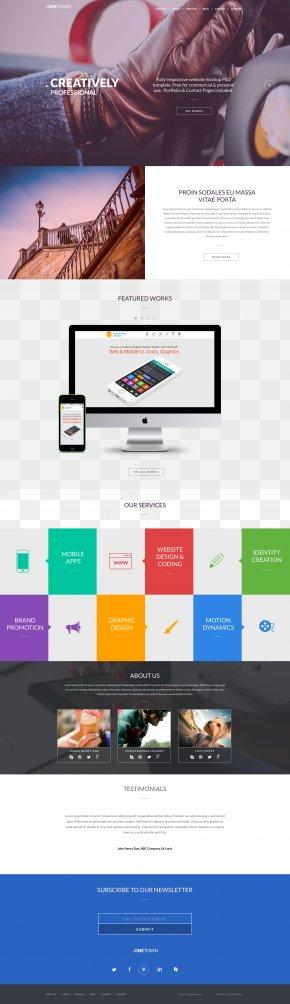 Responsive UI Template Website Entire Station - Responsive Web Design Web Page Web Template System Website PNG