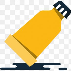 A Yellow Bottles - Yellow Bottle Icon PNG