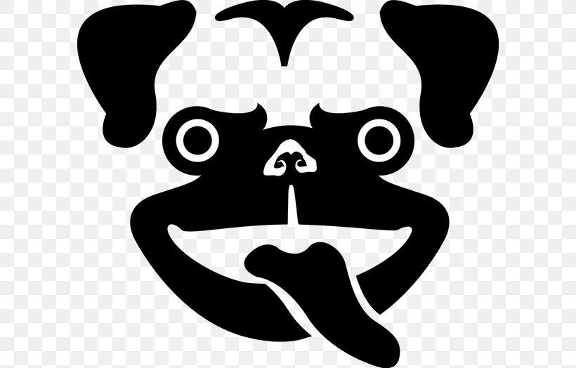 Pug Dog Breed Logo Clip Art Snout, PNG, 600x524px, Pug, Artwork, Baseball Cap, Black, Black And White Download Free