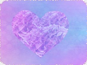 Heart-shaped Streamers - Purple Emotion Feeling Love Heart PNG