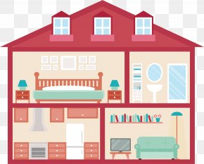 Romantic Red Little House - Euclidean Vector Interior Design Services House PNG