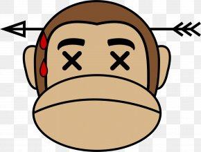Sleeping Monkey Cliparts - Ape Emoji Monkey Clip Art PNG