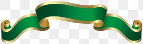 Green Banner Deco Clip Art Image - Red Clip Art PNG