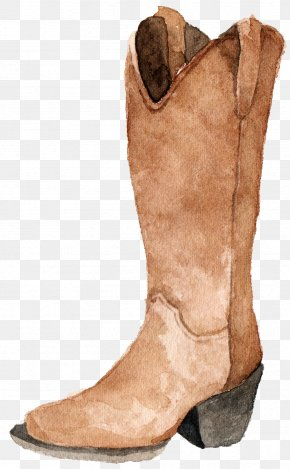 Sen Department Aesthetic Boots - Cowboy Boot Watercolor Painting Drawing PNG