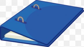 Vector Blue Folder Pattern Books - Directory Computer File PNG