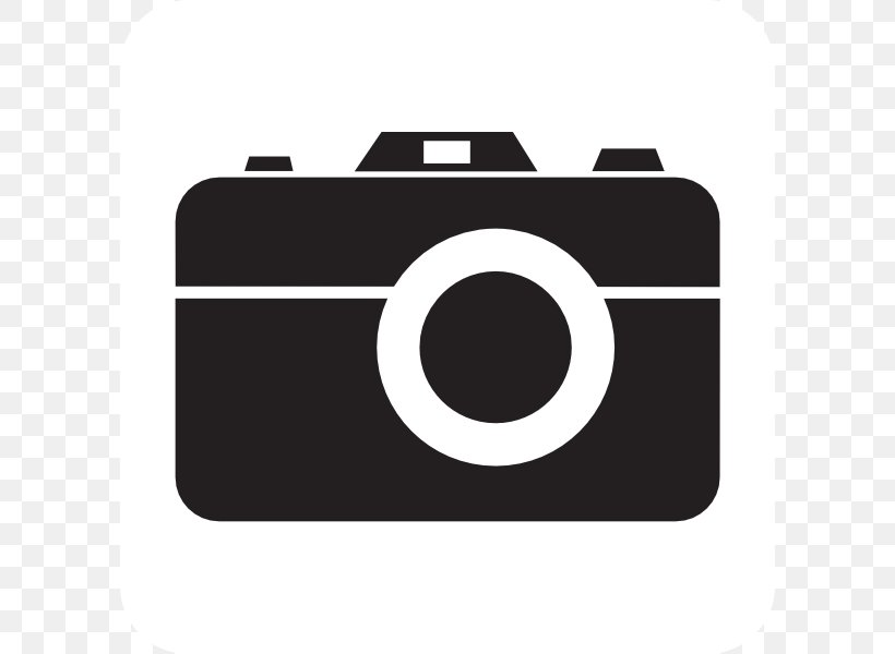 Camera Photography Free Content Clip Art, PNG, 600x600px, Camera, Black, Black And White, Brand, Camera Lens Download Free