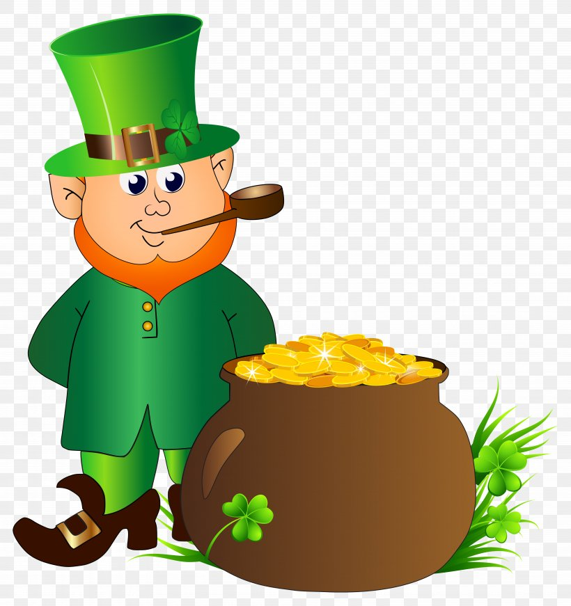 Leprechaun Saint Patrick's Day Clip Art, PNG, 7525x8000px, Leprechaun, Clip Art, Clover, Drinkware, Fictional Character Download Free