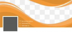Orange Ripple Business Billboard - Brand Graphic Design Wallpaper PNG