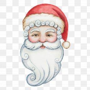 Drawing Santa Claus Vector Illustration Material - Santa Claus Watercolor Painting Christmas Illustration PNG