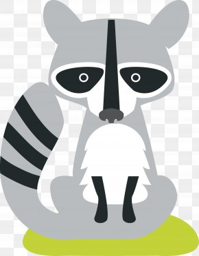 Cartoon Civet Cats - Whiskers Cartoon Animal Illustration PNG
