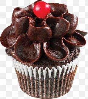 Chocolate Cake - Cupcake Chocolate Cake Muffin Frosting & Icing Birthday Cake PNG