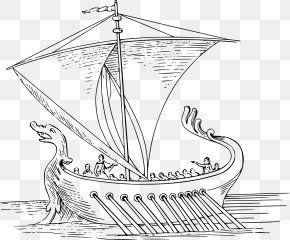 Boat - Coloring Book Ancient Rome Drawing Boat PNG