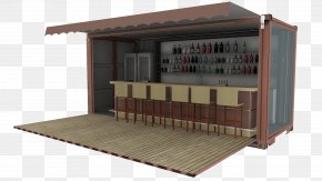 Pub - Cafe Shipping Container Architecture Intermodal Container House PNG