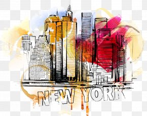 Vector Illustration Of New York City - New York City Skyline PNG
