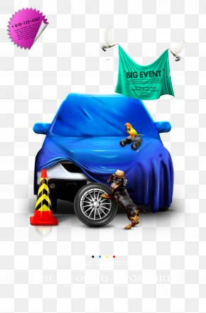 Creative Car Poster Design Material PNG