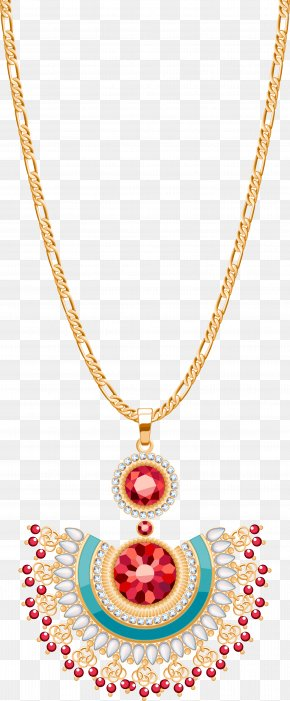 Ruby Necklace - Earring Necklace Chain Pearl PNG