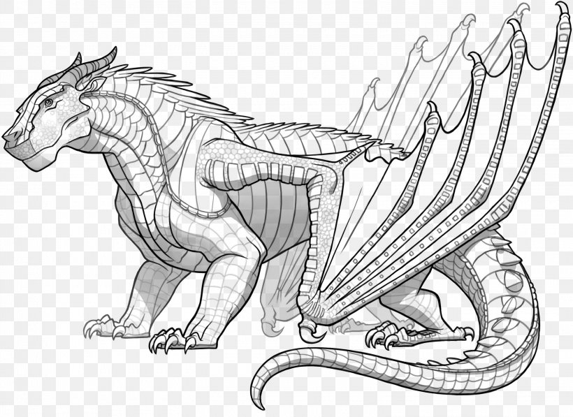 Wings Of Fire Coloring Book Dragon Fire Breathing Line Art Png