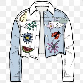 Printed Denim Jacket - T-shirt Jacket Denim PNG
