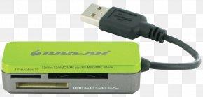 Card Reader - Memory Card Reader USB Secure Digital Memory Stick PNG