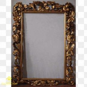 GOLD Leaf Frame - Picture Frames Gold Leaf Mirror Painting PNG