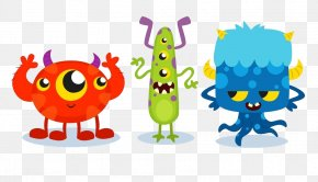 Cartoon Monster - Euclidean Vector Download Monster Color Icon PNG