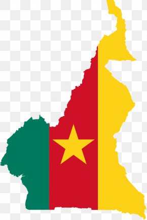 Map - Flag Of Cameroon Map National Flag PNG