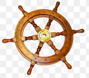Ship - Ship's Wheel Wood Boat PNG