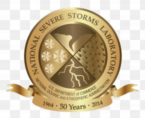 GOLD BANNER - National Severe Storms Laboratory National Oceanic And Atmospheric Administration Severe Weather National Weather Service Logo PNG