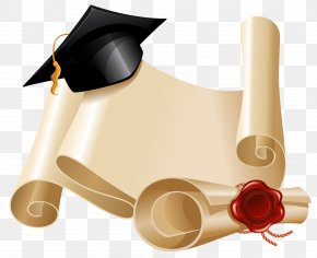 Diploma And Graduation Hat Clipart Picture - Graduation Ceremony Square Academic Cap Diploma Clip Art PNG