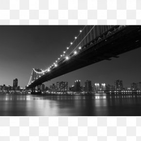 Bridge - Manhattan Bridge Brooklyn Bridge Supermoon January 2018 Lunar Eclipse PNG