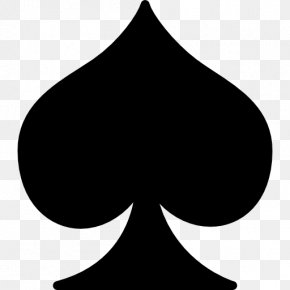 Symbol - Ace Of Spades Playing Card PNG