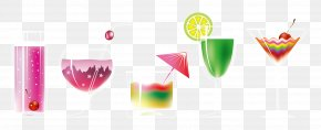 Summer Ice Drink Juice Cup - Juice Cocktail Drink Wine Glass PNG