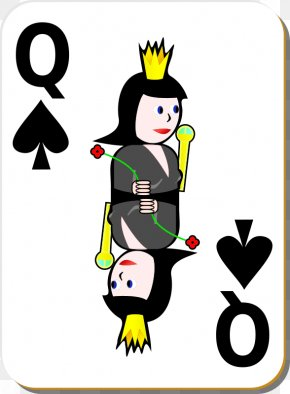 Interrupting Cliparts - Playing Card Queen Of Spades Clip Art PNG