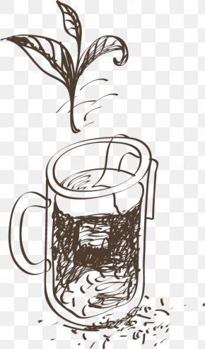 Vintage Coffee Pot Painted Artwork - Coffee Cup Coffeemaker Mug Drawing PNG