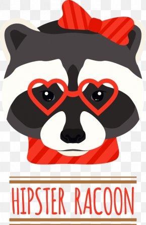Cartoon Raccoon Trend - Raccoon Illustration PNG