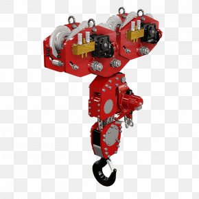 Red Trolley - Hoist Cięgnik Lifting Hook Chain Winch PNG