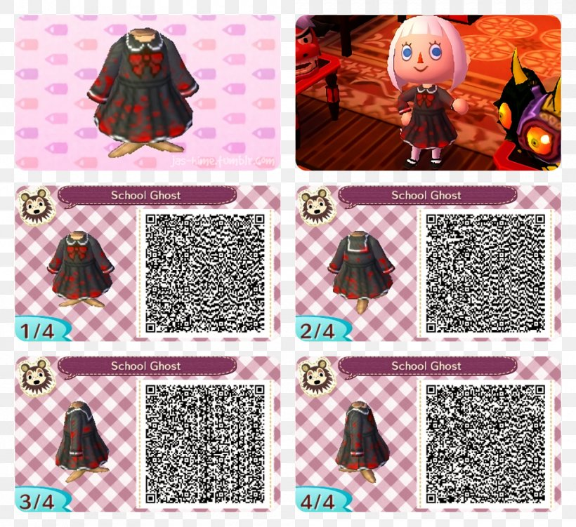 Animal Crossing New Leaf Qr Code Clothing Dress Png 1000x917px