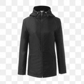 Nylon Zipper Closure Ladies Hooded Jacket - Zipper Jacket Nylon PNG