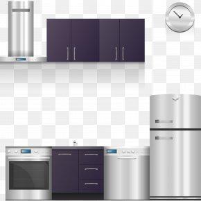 Vector Stylish Modern Kitchen Design - Home Appliance Kitchen Cabinet Kitchen Stove PNG